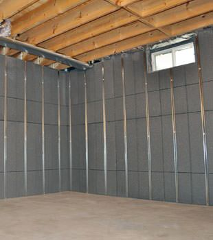 Installed basement wall panels installed in Harrison